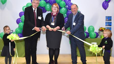 The ribbon is cut at the grand unveiling of The Limes Primary Academy in Oulton. Pictures: Mick Howe