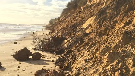 Waveney District Council is carrying out inspections at Pakefield cliffs following erosion due to hi