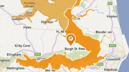 A flood alert has been issued across Waveney. Picture: Environment Agency