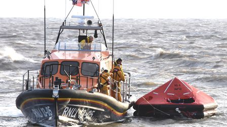 Lowestoft RNLI were called to reports of a large liferaft drifting offshore. MICK HOWES