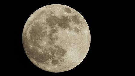 The 'super blood wolf moon' was visible in parts of the UK this morning. Picture: Nigel Bainton