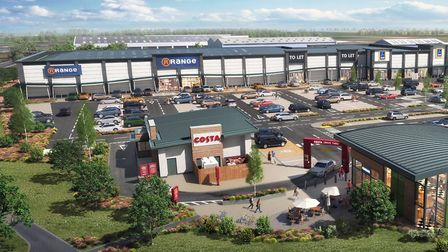 Gateway Retail Park will open in Lowestoft later this year. Picture: Urban Edge Architecture