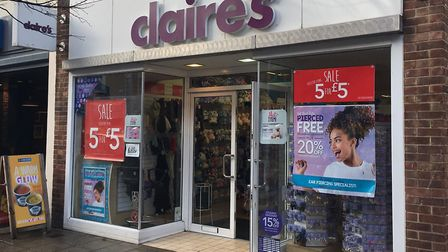 The Claire's store in Lowestoft town centre is set to close. Picture: Thomas Chapman