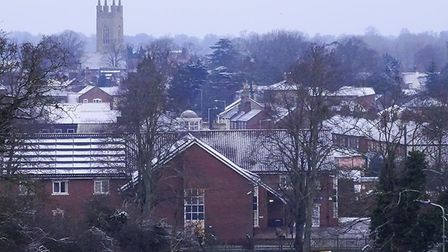 Bungay after the overnight snow. Picture: Andrew Atterwill