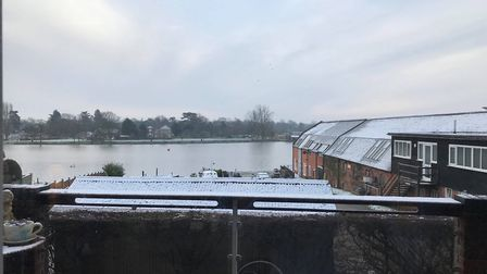 Glynis Galek took this picture from her home in Oulton Broad.
