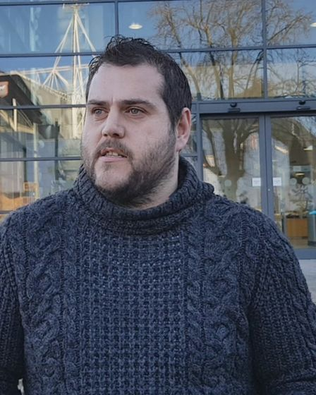 Glen Anderson, Scott Tarrant's Uncle, talking to the media outside court. Picture: ARCHANT