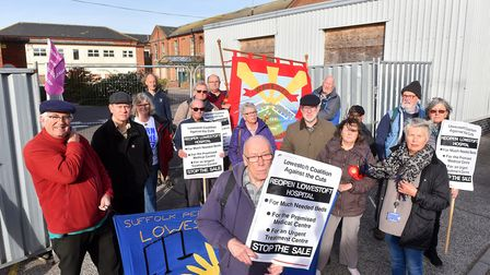 Protesters camapigned outside the former Lowestoft Hospital to try and stop the sale of the building
