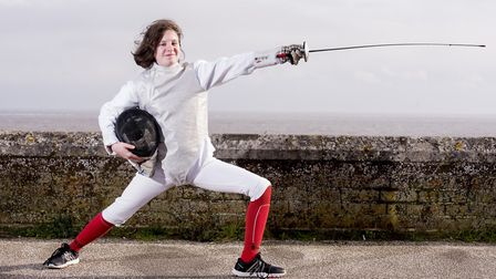 Evangeline Lawrence, from Lowestoft, who has once again qualified for the British Fencing Youth Cham