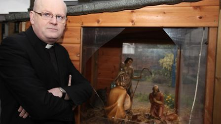 Father Michael Daley, Parish Priest of Our Lady and St Joseph Catholic Church, is angry at the theft