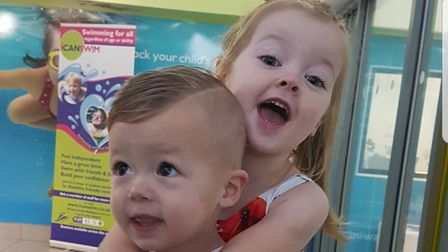 Jaymen Woolston with his older sister Harlow. PHOTO COURTESY OF WOOLSTON FAMILY