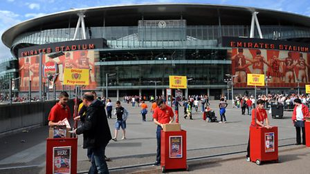 A general shot of Arsenal's Emirates Stadium. Photo: PA