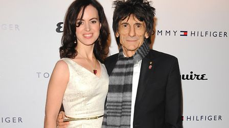 Ronnie Wood and Sally Humphreys have donated cash to the exhibition Pic: Ian West/PA