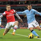 Jack Wilshere showed plenty of fighting spirit against Manchester City but not enough of his team-ma