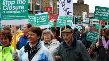 History repeats itself? Demonstrations march to save the Whittington Hospital's A&E department in 20