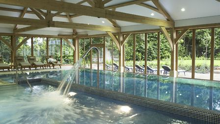 The swimming pool at Luton Hoo's spa