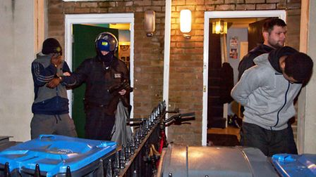 Suspect members of criminal gangs were arrested yesterday (pic credit: Jan Nevill)