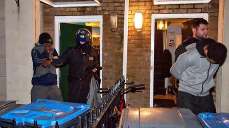 Police carried out a series of raids in South Kilburn this morning (pic credit: Jan Nevill)