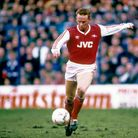 Perry Groves in action for Arsenal during his playing days. He scored a winning goal for the Gunners
