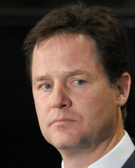 Deputy Prime Minister Nick Clegg Picture: Time Ireland/PA Wire