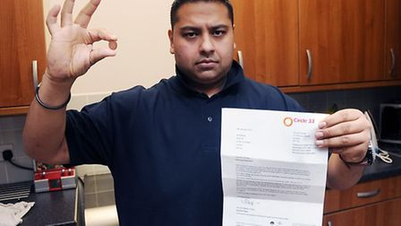 Koisor Miah was told he could be evicted over the 1p debt