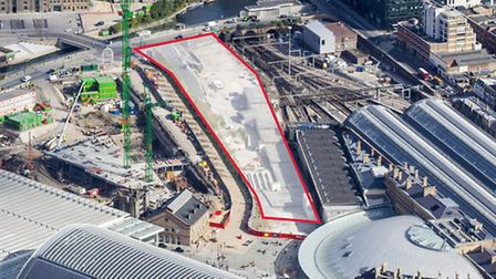 Google has purchased a 2.4 acre plot of land (highlighted in red) at King's Cross Central.