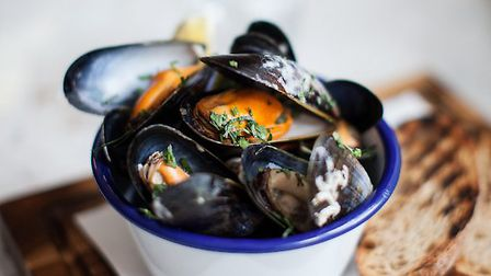 Th smoky mussle broth was a treat Pic: Helen Cathcart.