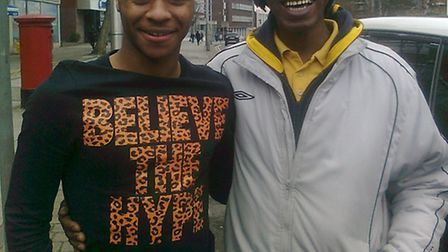 Raheem Sterling with Paul Lawrence