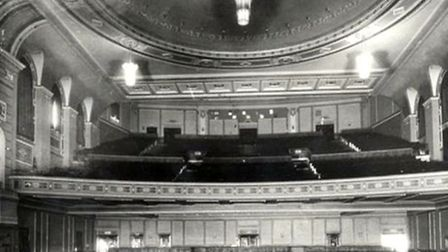 The interior of the old cinema