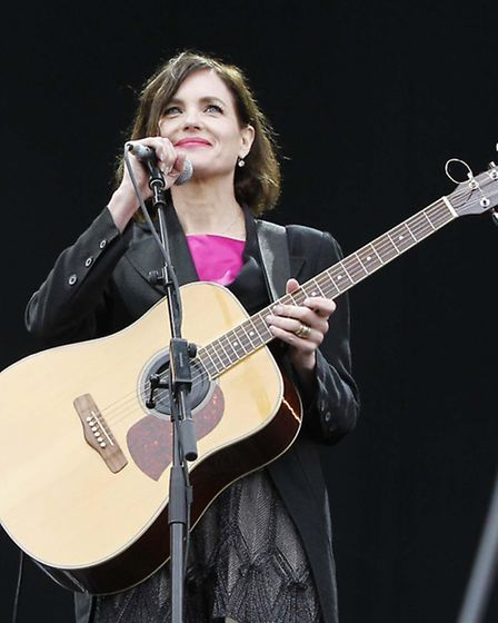Elizabeth McGovern performs the Main Stage at the Isle of Wight Festival.