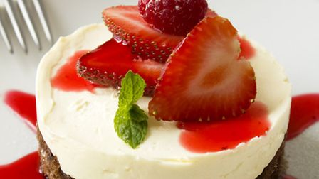 The cheesecake on offer at Innfusion restaurant.