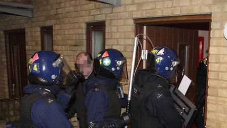 Police carried out a series of dawn raids across the Stonebridge area this morning