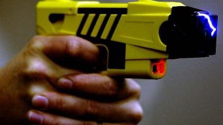 The electroshock weapon is sold by US company Taser International. Picture: PA/Rui Vieira.