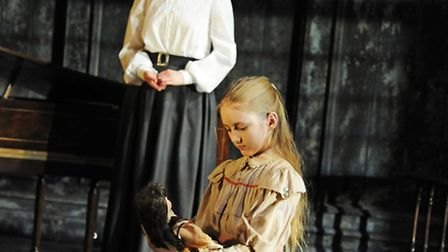 Anna Madeley (Governess) and Lucy Morton (Flora) in The Turn of the Screw at the Almeida Theatre. Ph