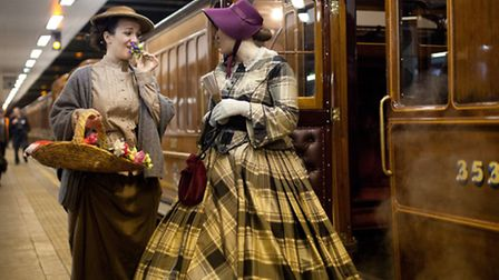 Passengers get into the spirit of things Pic: TfL Visual Image Services