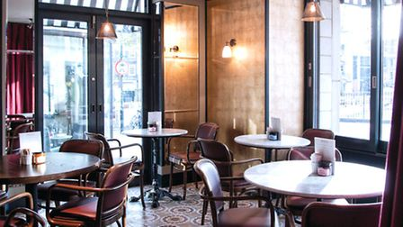 The French-cafe style interior