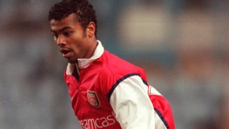 Ashley Cole playing for Arsenal reserves in 2000. Photo: John Walton: EMPICS Sport