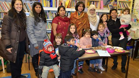 Some of the mother and toddlers that regularly attend Barham Volunteer Library, picture taken at Bar