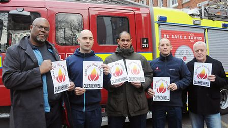 Campaigners and firefighters in Clerkenwell took to the streets last Wednesday as the battle to save