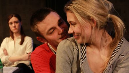 Lila Whelan, Oliver Yellop and Abbiegale Duncan in The Deep Space at the Old Red Lion Theatre