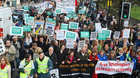 History repeats itself? Protesters march to save the Whittington Hospital's A&E department in 2010.