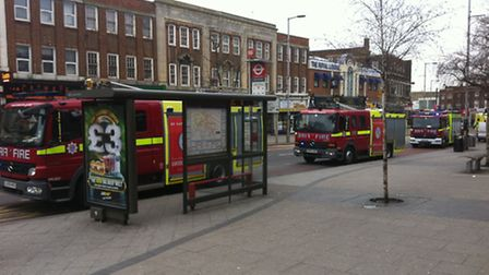 Fire Engines on Wembley High Road. Pic Credit: Francis Henry.