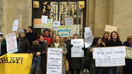 Members of the Friends of Kensal Rise Library outside All Souls College