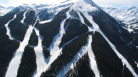 Bansko's pistes are carved through forests