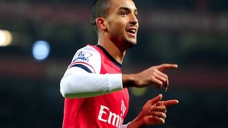 Arsenal's Theo Walcott has scored 18 goals this season and three in his last two games against Spurs