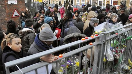 Mourners gathered in a vigil for Joseph Burke-Monnerville in Hackney on Saturday, a week after he wa