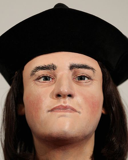The face of King Richard III is unveiled to the media at the Society of Antiquaries, London, after t