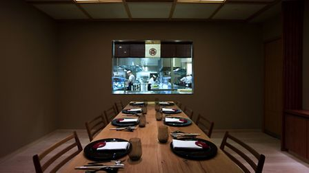 The chef's table at Chrysan