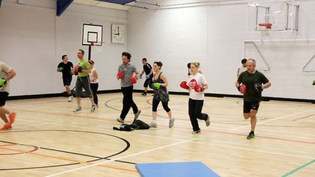 Charteris Centre reopens. Pictured is circuit training.