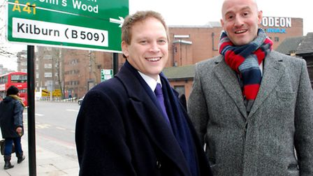 Grant Shapps with Simon Marcus, Conservative parliamentary candidate for Hampstead & Kilburn (Pictue
