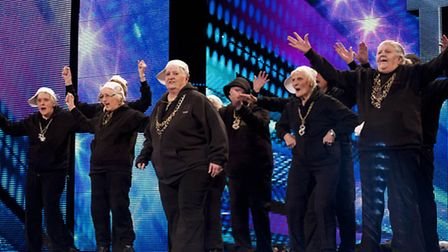 The Zimmers perform on Britain's Got Talent - Dolores Murray centre front
